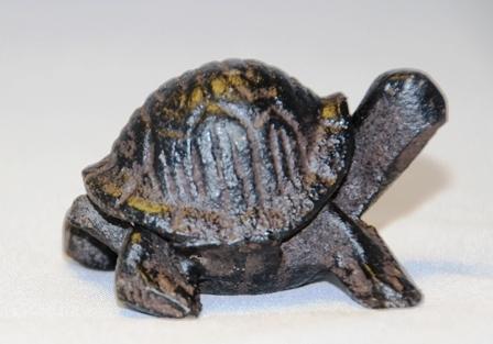 Schildkr te dekotier guss eisen ca 3 5 x 4 5 xh 3 cm braun for Tiere aus rostigem eisen