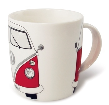 VW Bulli T1 Tasse in rot - VW-Collection in Geschenkbox