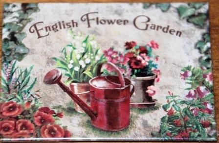 Magnet English Flower Garden 8 x 6 cm Nostalgic Art