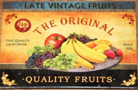"Magnet ""The Original Quality Fruits"" 8 x 6 cm Nostalgic Art"