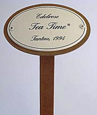 "Gartenstecker Rosenstecker ""Edelrose Tea Time""  Emaille-Schild mit Erdspieß 50 cm"