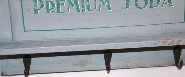 holz garderobe board mit ablage in hellgrau mit premium soda ca b 34 x h 20 cm. Black Bedroom Furniture Sets. Home Design Ideas