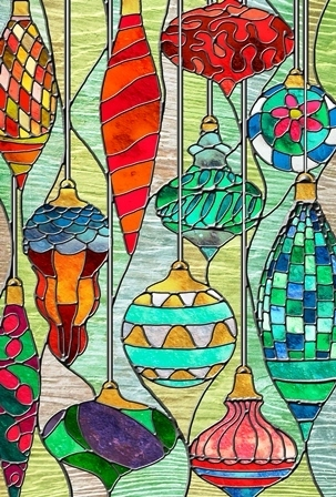 "Garten Fahne ""Stained Glass Ornaments"" Toland Home Garden"