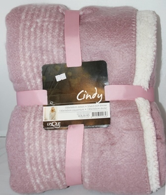 "Fleece-Decke 130  x 160 cm rosa ""Cindy"" UNIQUE Living Lemetex"