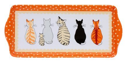 "Tablett ""cats in waiting"" Teetablett Kunststoff NEW COLLECTION Ulster Weavers"