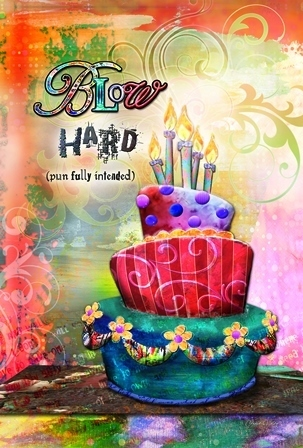 "Garten Fahne ""Blow Hard Birthday""Toland Home Garden"