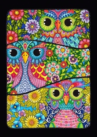"Garten Fahne ""Three Owls"" Toland Home Garden"