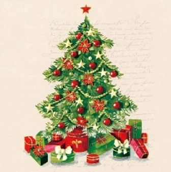 "Servietten ""Christmas Tree"" 25 x 25 cm Ambiente"