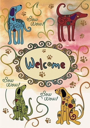"Garten Fahne ""Bow Wow Welcome"" Toland Home Garden"