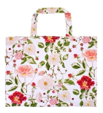 "Canvas-Shopper ""RHS Traditional Rose"" Ulster Weavers"
