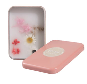 "Duftwachs in Dose lachs ""Floral fragance"" 9x7x3 cm Clayre & Eef"