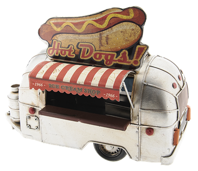"Model Auto Camper ""Hot Dogs!"" 24 x 14 x 19 cm Clayre & Eef"