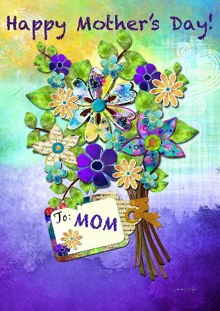 "Garten Fahne ""Mothers Day Bouquet"" - Muttertag - Toland Home Garden"