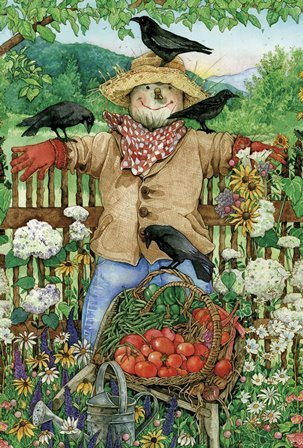 "Garten Fahne ""Friendly Scarecrow"" Toland Home Garden"