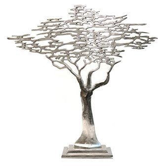 "Deko ""Jewelery Tree"" Alu Nickel 62 x 16 cm von Colmore"