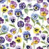 "Servietten ""Pansy all over"" Stiefmütterchen 33x33 cm Ambiente"
